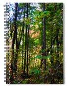 Autumn Wood Spiral Notebook