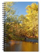 Autumn's Golden Pond Spiral Notebook