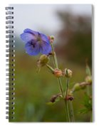 Autumns Misty Wildflowers Spiral Notebook