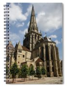 Autun Cathedral View Burgundy Spiral Notebook