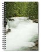 Avalanche Creek In Spring Run Off Spiral Notebook