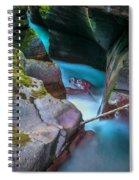 Avalanche Gorge Glacier National Park Painted   Spiral Notebook