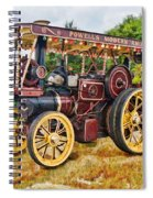 Aveling And Porter Showmans Tractor Spiral Notebook
