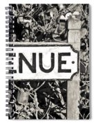 Avenue Sign Spiral Notebook