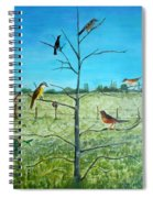 Aves En Comarca Del Sol Spiral Notebook