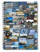 Aviation Collage Spiral Notebook