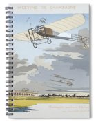 Aviation Meeting At Champagne Spiral Notebook