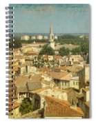 Avignon From Les Roches Spiral Notebook