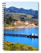 Avila Beach California Fishing Pier Spiral Notebook