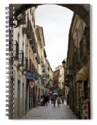 Avila Street Blue Umbrella Spiral Notebook