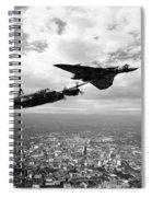Avro Birds - Mono  Spiral Notebook