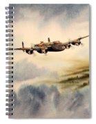 Avro Lancaster Over England Spiral Notebook