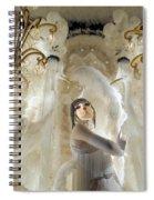 Awash In White Spiral Notebook