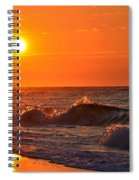 Awesome Red Sunrise Colors On Navarre Beach With Shore Waves Spiral Notebook