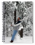 Awestruck By The Beauty Of Snow Spiral Notebook