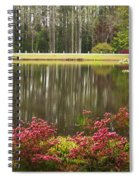 Azaleas And Reflection Pond Spiral Notebook