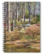 Azaleas By The Pond's Edge Spiral Notebook