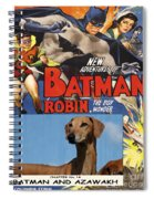 Azawakh Art - Batman Movie Poster Spiral Notebook