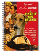 Azawakh Art - The Flame Of New Orleans Movie Poster Spiral Notebook