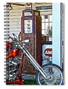 Aztec And The Gas Pump Spiral Notebook