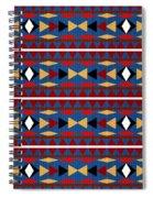 Aztec Blue Pattern Spiral Notebook