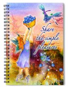 Azuria - Share The Simple Pleasures Spiral Notebook