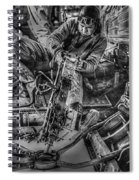 B-24 Bomber Belly Gunner - 1943 Spiral Notebook