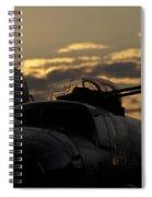 B-25 Sunset Spiral Notebook