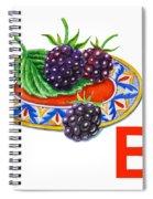 B Art Alphabet For Kids Room Spiral Notebook