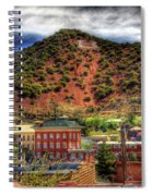 B Hill Over Historic Bisbee Spiral Notebook