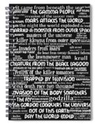 B Movies Science Fiction 20130627bw Spiral Notebook