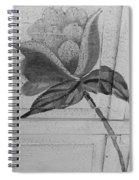 B W Wood Flower Spiral Notebook