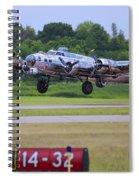 B17 Bomber Taking Off Spiral Notebook
