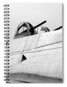 B17 Bomber Top Turret Guns Spiral Notebook