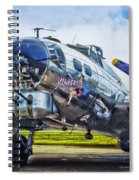 B17 Bomber Yankee Lady Spiral Notebook