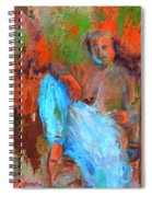 Baba In A Chair Spiral Notebook