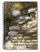 Babbling Brook William Shakespeare Quote Spiral Notebook