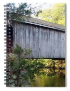 Babbs Covered Bridge In Maine Spiral Notebook