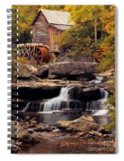 Babcock Grist Mill And Falls Spiral Notebook