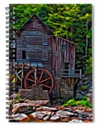 Babcock State Park Paint Spiral Notebook