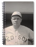 Babe Ruth With The Sox Spiral Notebook
