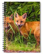 Babes In The Woods 2 - Paint Spiral Notebook