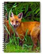 Babes In The Woods Impasto Spiral Notebook