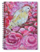 Baby Dove Of Peace Pink Flowers Spiral Notebook