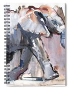 Baby Elephant, 2012 Mixed Media On Paper Spiral Notebook