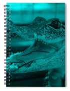 Baby Gator Turquoise Spiral Notebook