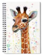 Baby Giraffe Watercolor  Spiral Notebook