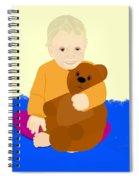 Baby Holding Teddy Bear Spiral Notebook