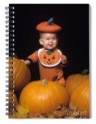 Baby In Pumpkin Costume Spiral Notebook