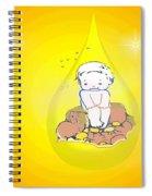Baby In Teardrop 2 Spiral Notebook